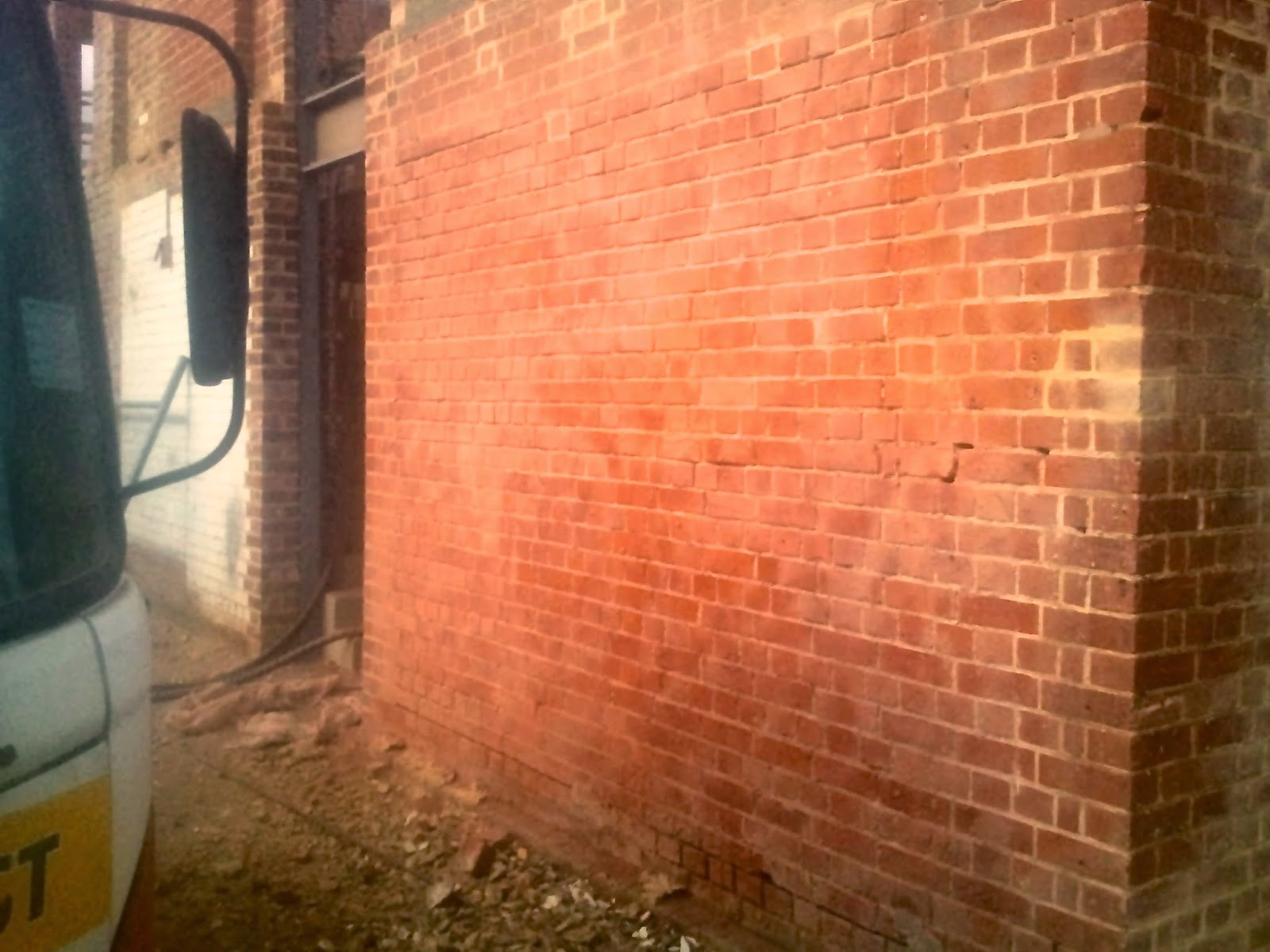 Exterior walls can benefit from abrasive blasting to restore them