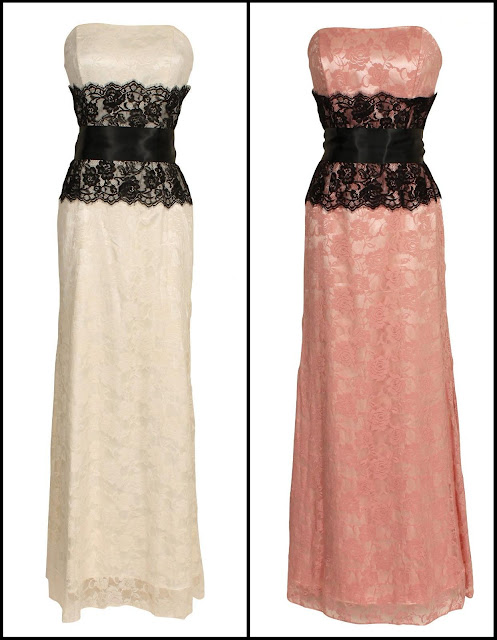 Jump Juniors D orsay Lace Strapless Dress  Color  Black Nude  90     Lace Dresses For Prom