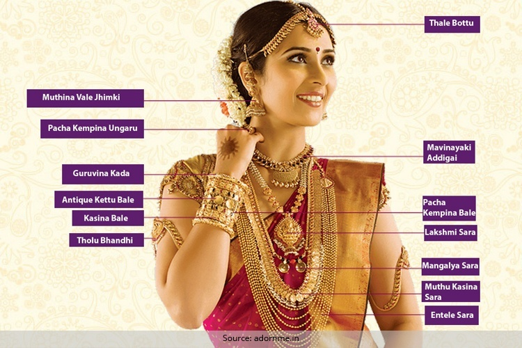 If you want to fill your taste and dream and every desire related to your fashion and style then you may have to continue to travel to down more towards south state karnataka, India. Very gorgeous and traditional and cultural jewelry of Kannada, India is dream of each women. Traditional Jewelry of Kannada is given below which mesmerized you, including the items used for wearing as fashion and tradition are as: Netri Chutti, Muthina Vali Jhumki, Haram, Guruvina Kada, Pacha Kempina Ungaru, Mavinakayi Addigai, Lakshmi Sara, Thouloo Bandhi, Mangalsutar, Toe Ring, to buy such traditional jewelry keep in your mind that you have selected a reliable shop where you may buy true jewels items, visit many shops and stores, also use net and websites to find locations of traditional jewelry of Kannada, Karnataka coorgi  wedding ceremonies are believed as most richest and worthy wedding ceremonies in India.