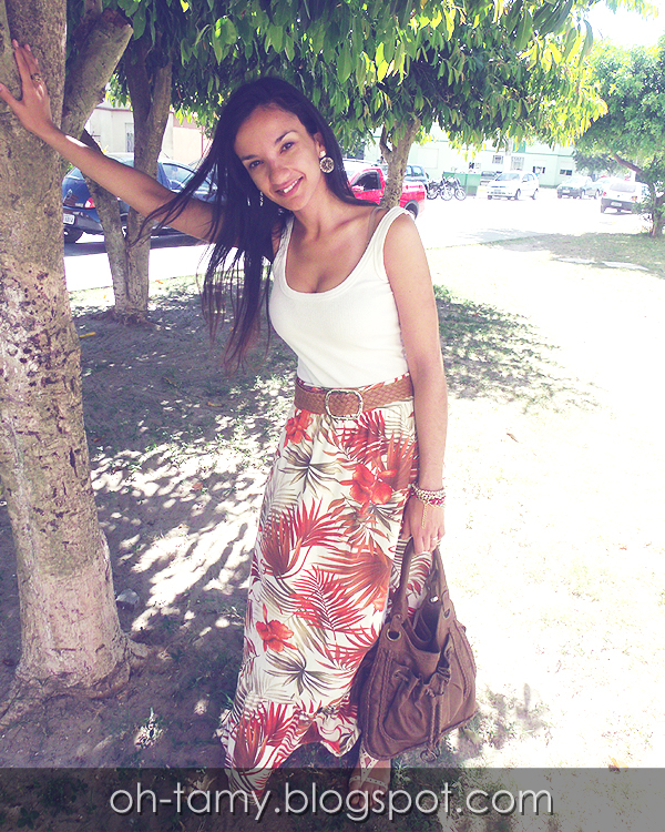 saia tropical, saia longa, look do dia, tropicalismo, vero, summer, long skirt, tropical print