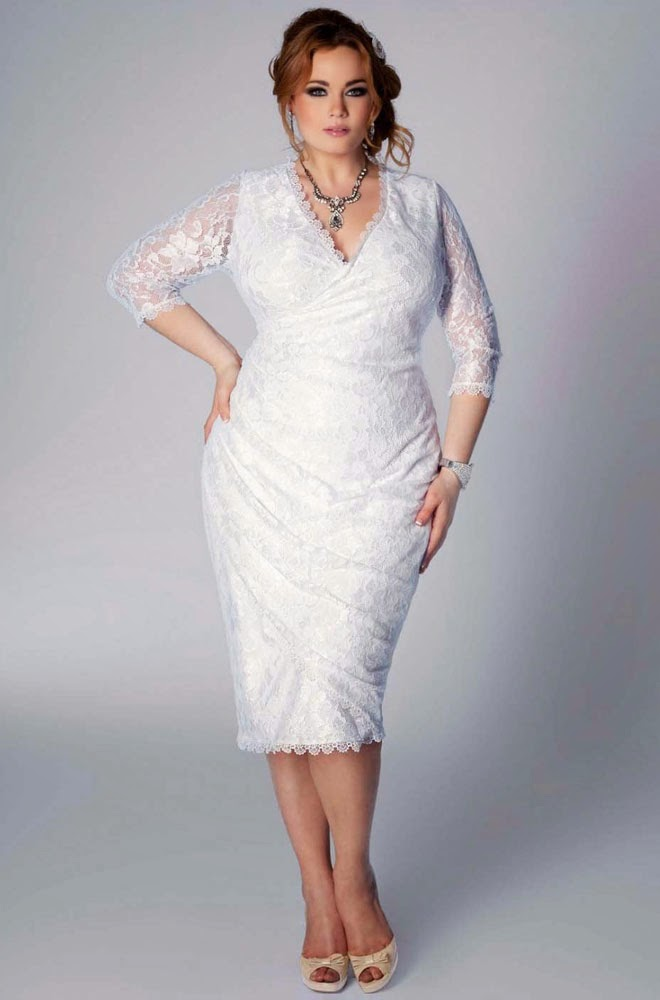 Plus Size Wedding Dresses For Second Marriage 34 Sleeves Design