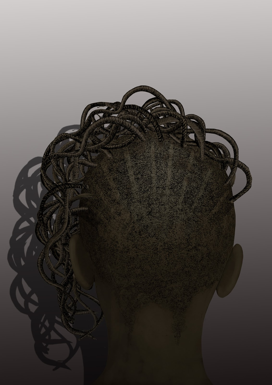 Peinado africano, dibujo