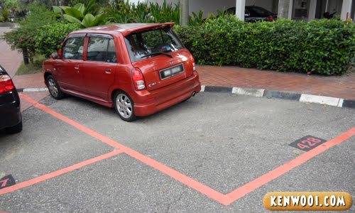 red kancil parking