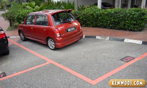 red kancil parking