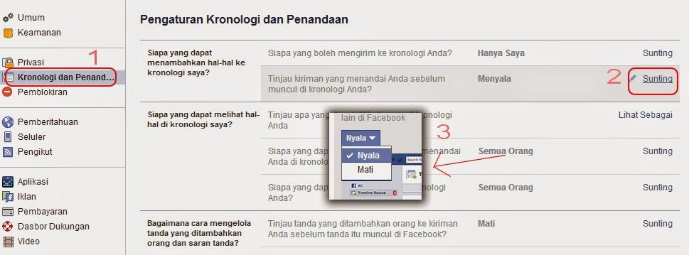 Tips mencegah tag pada facebook