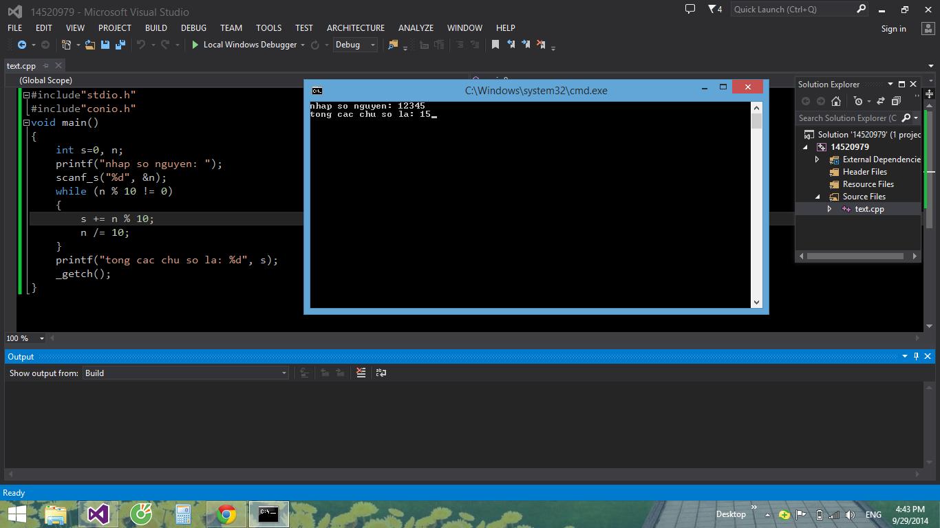 hình ảnh trong chương trình tính tổng các chữ số của 1 sô nguyen trong lập trình c