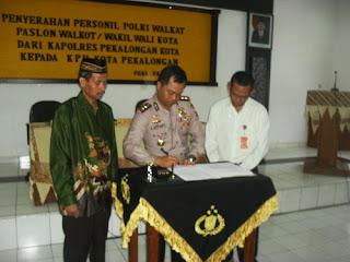 Polisi Kawal 24 Jam Paslon Walikota Dan Wakil Walikota