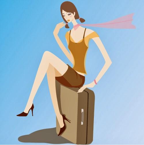 Mujer de viaje - Vector