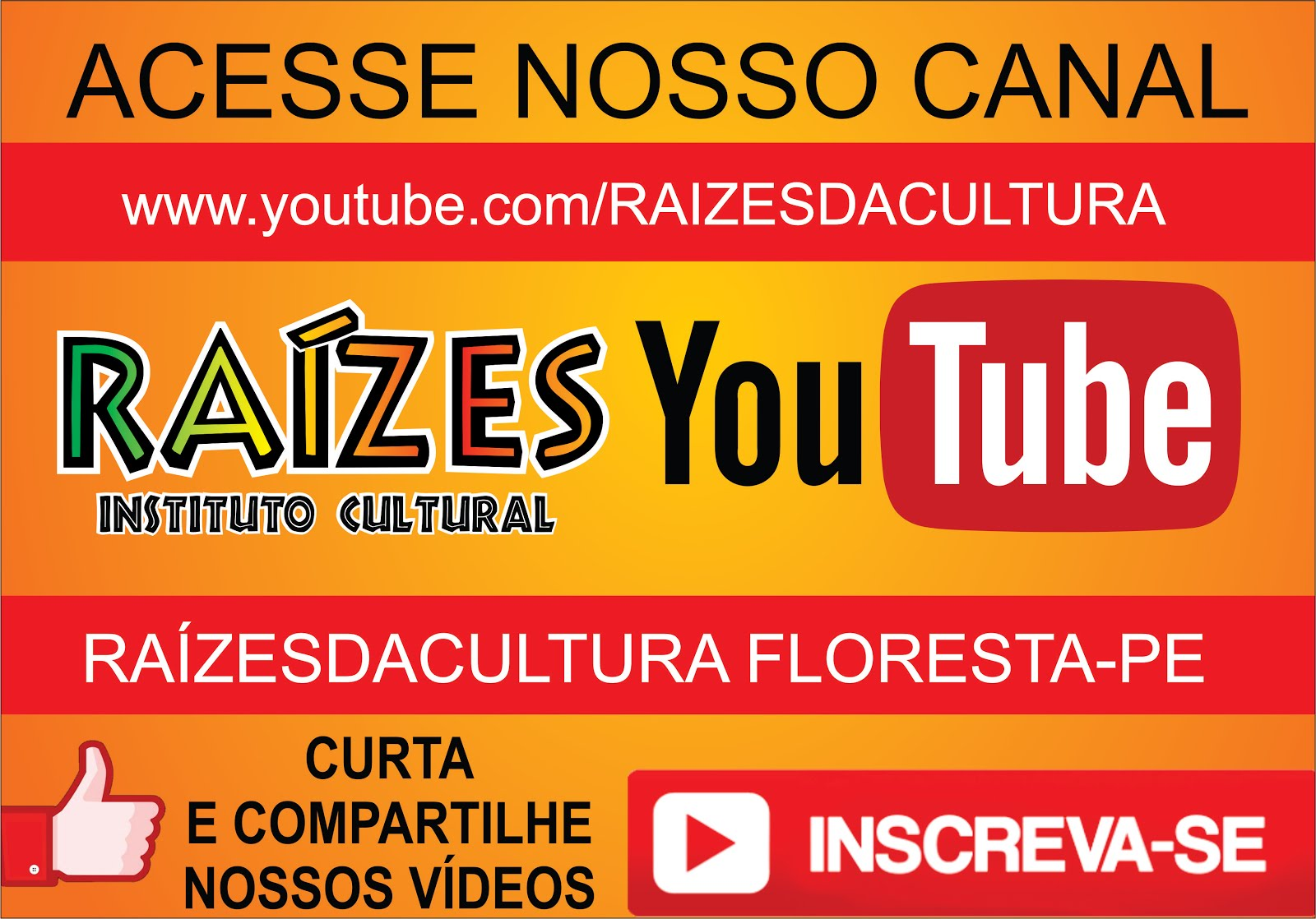 CANAL DE VÍDEOS DO INSTITUTO RAÍZES