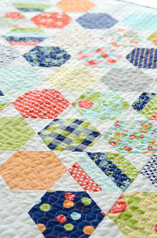 Honeycombs Â« modafabrics : honeycomb quilt - Adamdwight.com