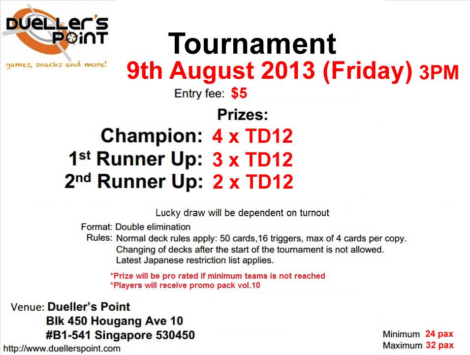 TD12 Tournament @ Dueller's Point 9/8/13 Td+tournament