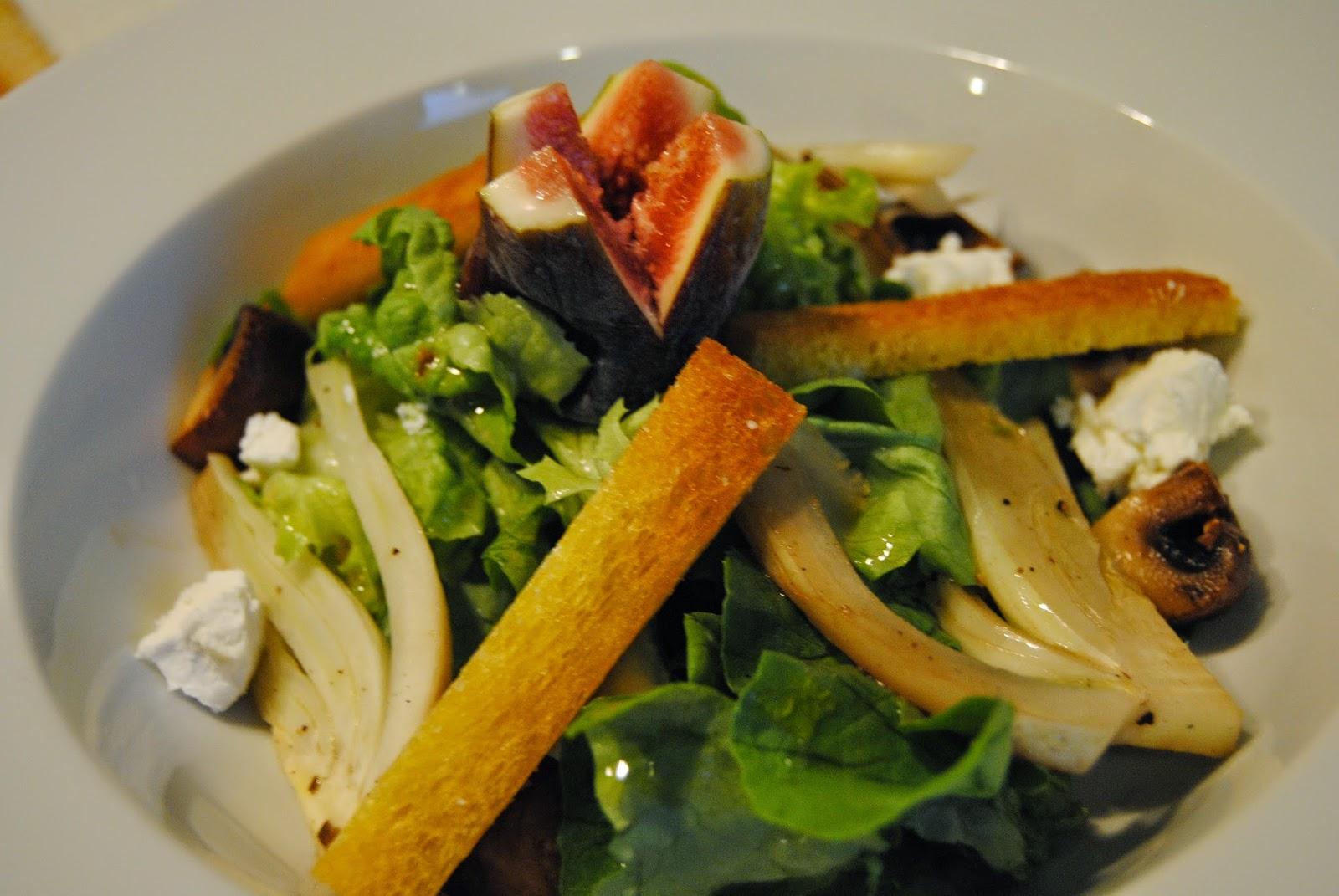 Rezept Schneller Salat mit Feigen und Ziegenkäse