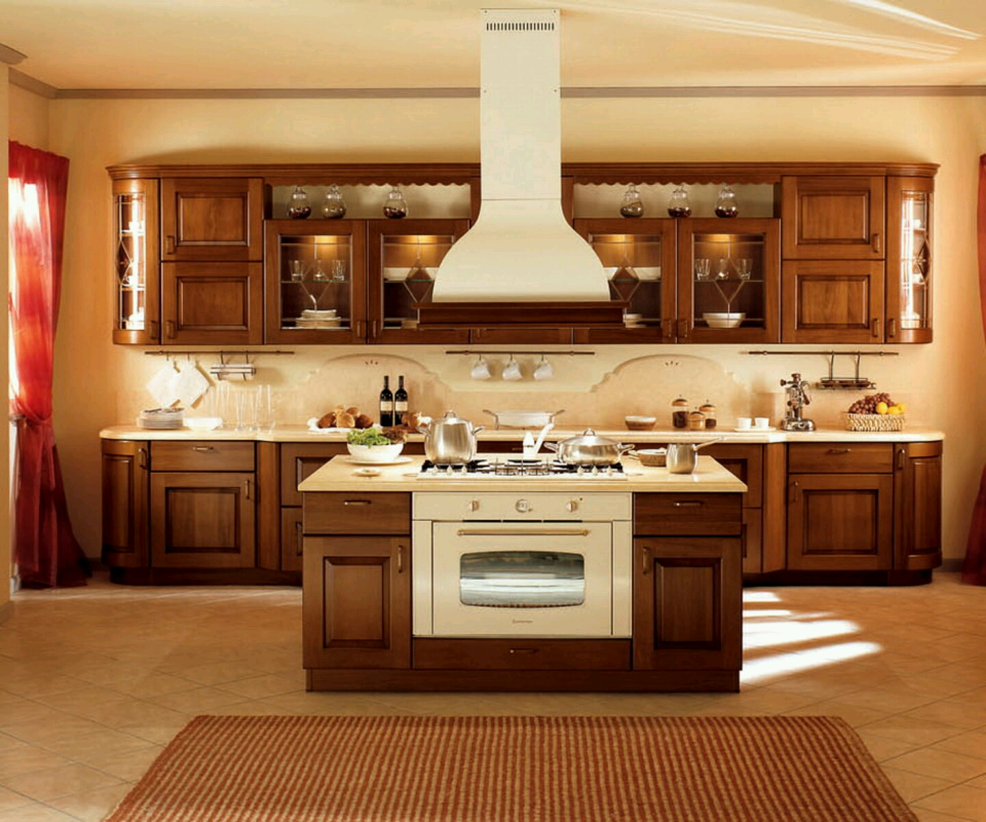 New home designs latest modern kitchen cabinets designs for Muebles design