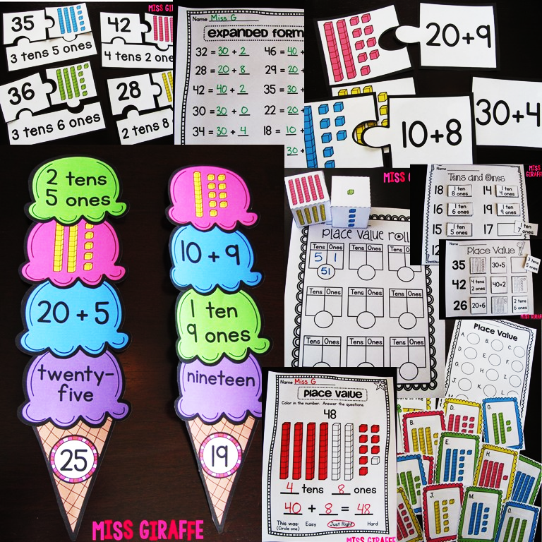 Miss Giraffes Class Place Value in First Grade – Super Teacher Worksheets Place Value