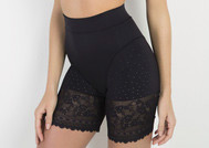lingerie bermuda Panty L cinta longa Lace Sensation Triumph acabamento em renda