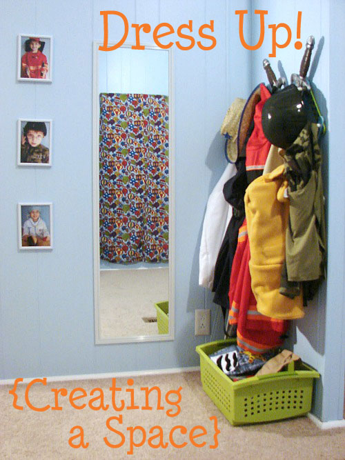 creating a space that inspires dress up play