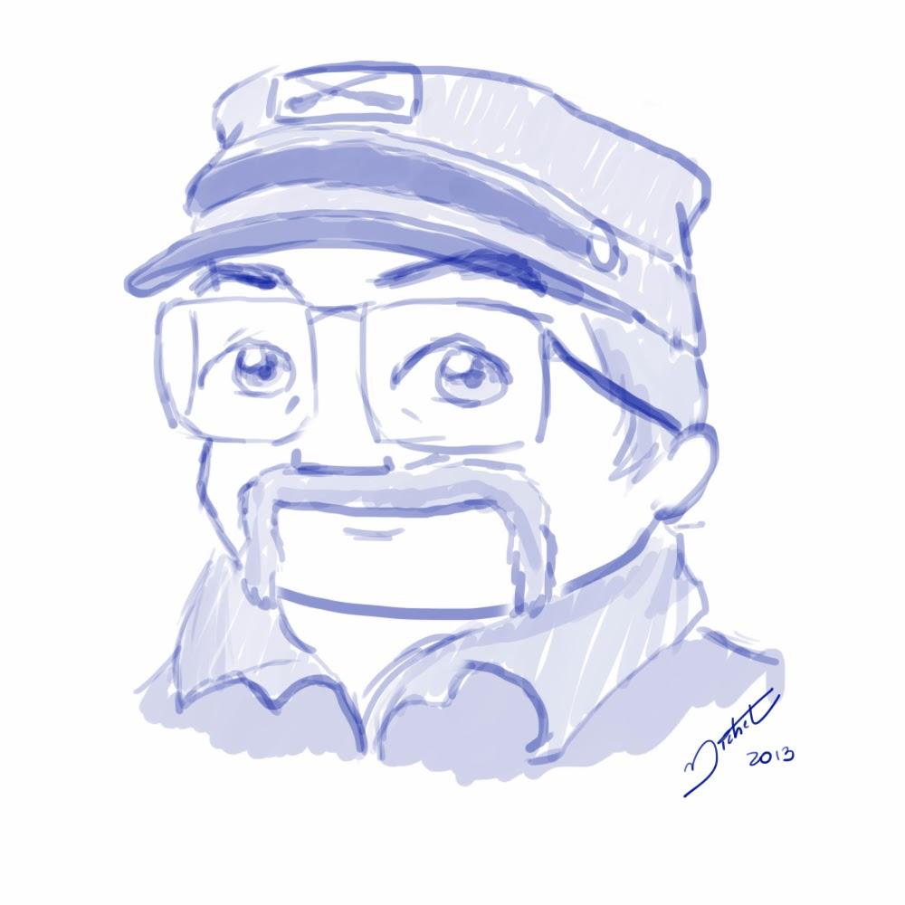 Caricatura Cartoon Ernani Cousandier - Michel Ramlho