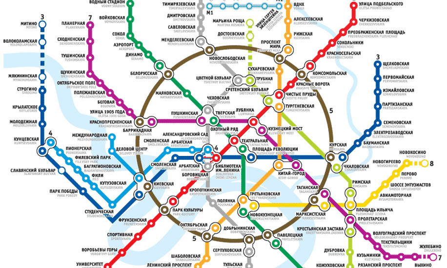 Metro map of moscow