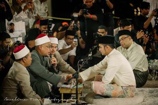 Foto Cantik Pernikahan Diana Amir oleh Amalina Tuna
