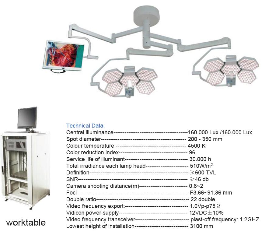 SY02-LED5+5-TV Shadowless Operating Lamp(Camera)