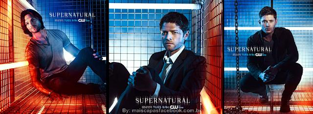 Sam, castiel e Dean capa para facebook Supernatural 9