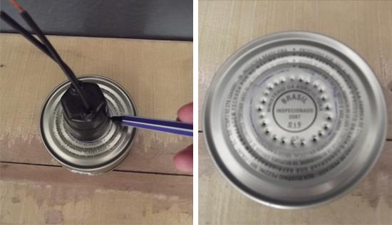luminaria com lata reciclada, reciclagem, upcycling, lata velha, lata de atum