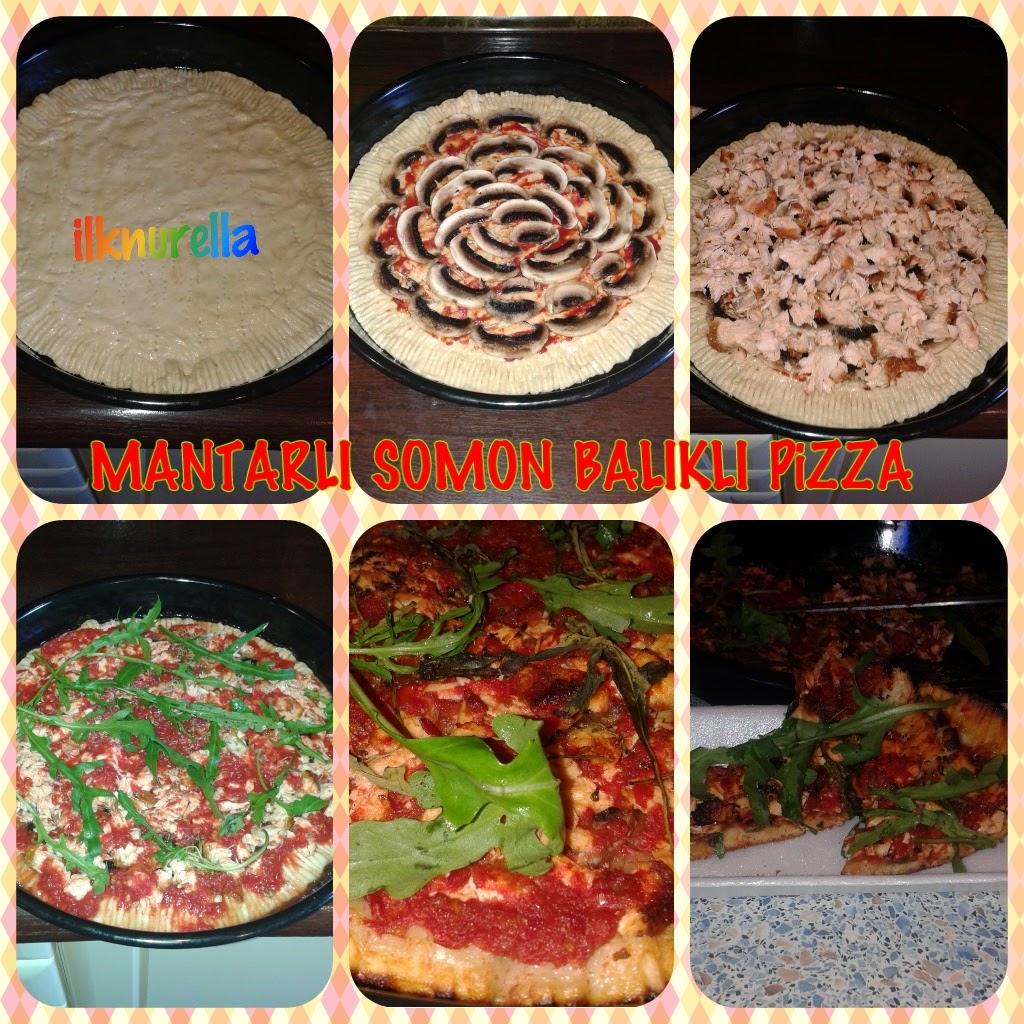 Mantarlı doğru pizza