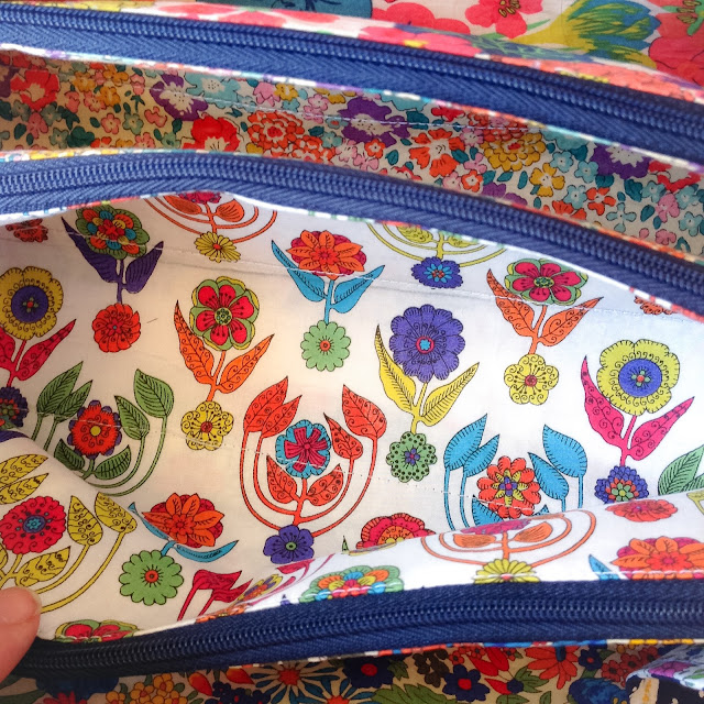 Liberty lined Sew Together bag