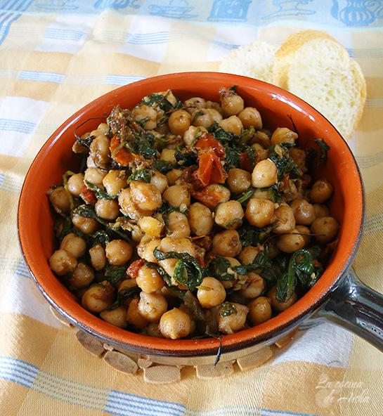 Como Cocinar Garbanzos Secos   La Cocina De Aisha Garbanzos Con Espinacas Tomates Secos Y Romero