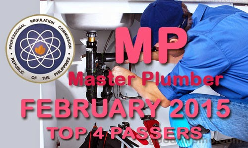 Top 4 Passers February 2015 Master Plumber Board Exam Results