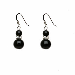 Black drop earrings, elisha francis london, onyx earrings, black jewellery, gifts for her