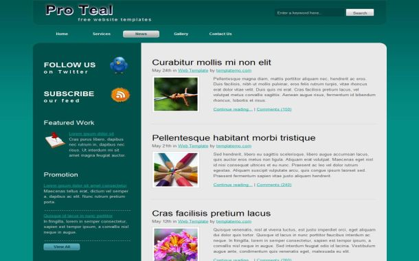 Light Fresh Green Free HTML CSS Website Template