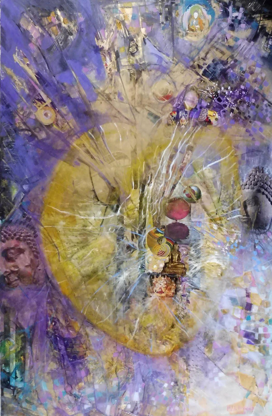 Le coeur de Bouddha - 65 x 100 cm - 2020