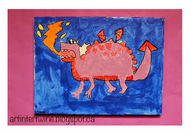 Art Intertwine - Dragon Painting For Kids
