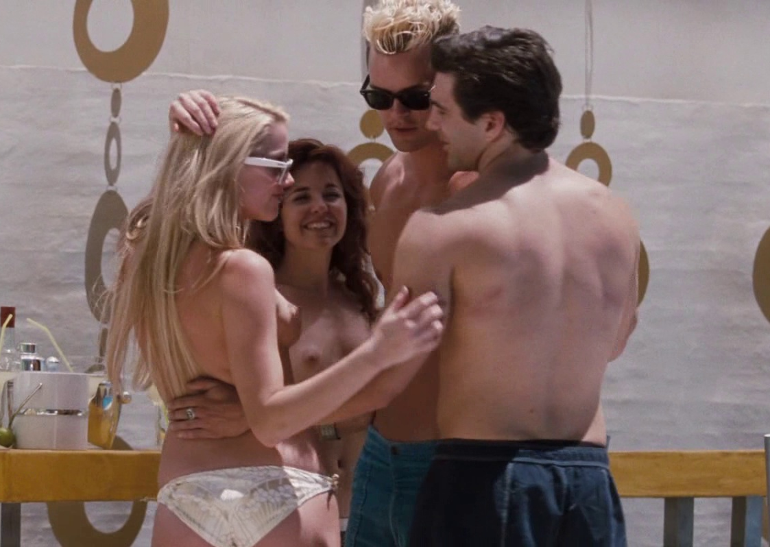 Amber Heard topless in The Informers