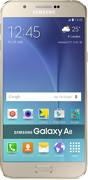 samsung galaxy a8 front