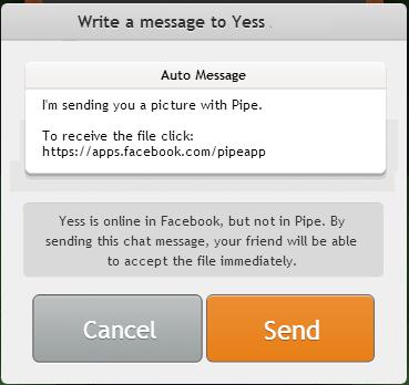 ارسال ملفات عن طريق الفيسبوك