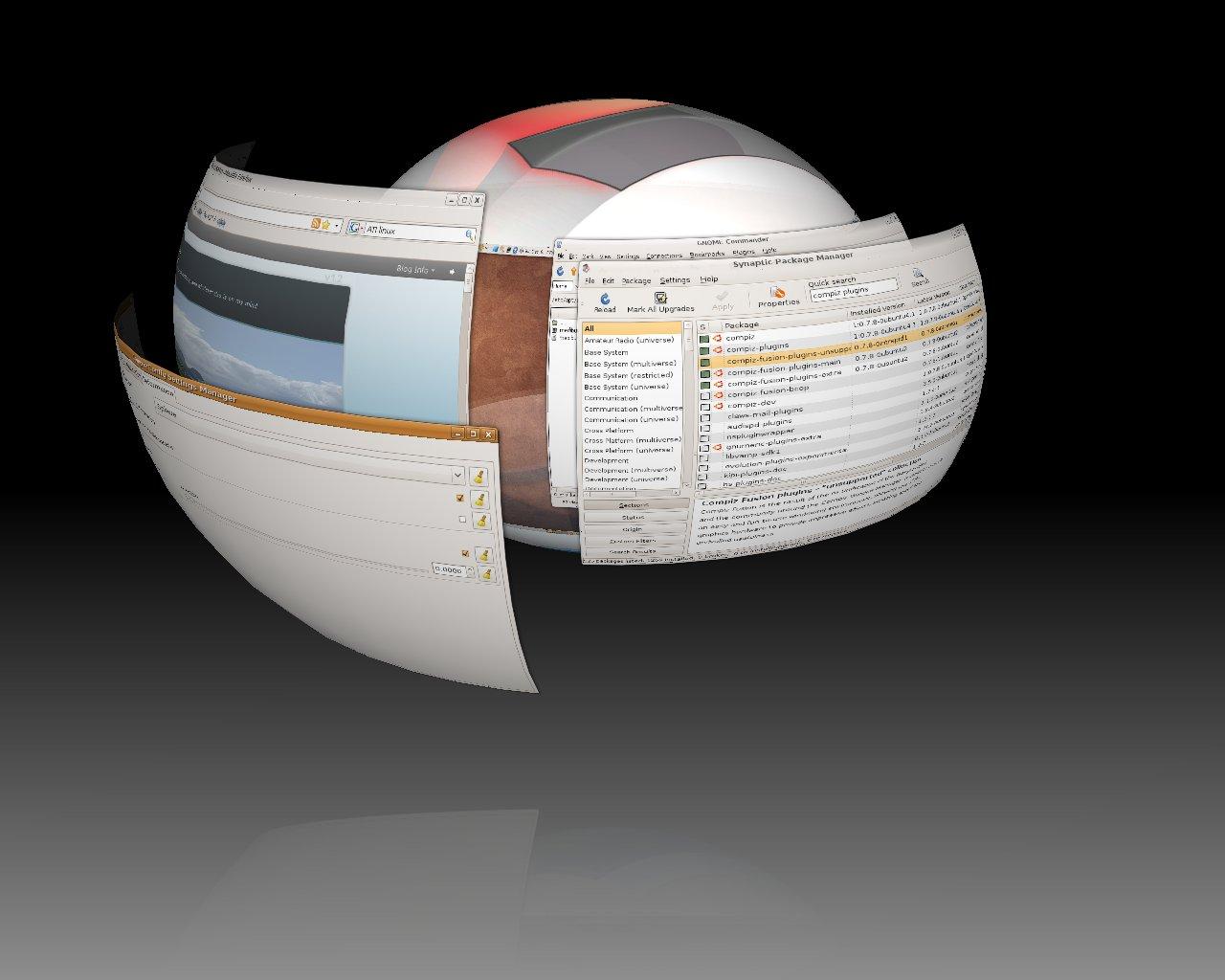 3D Desktop Cube