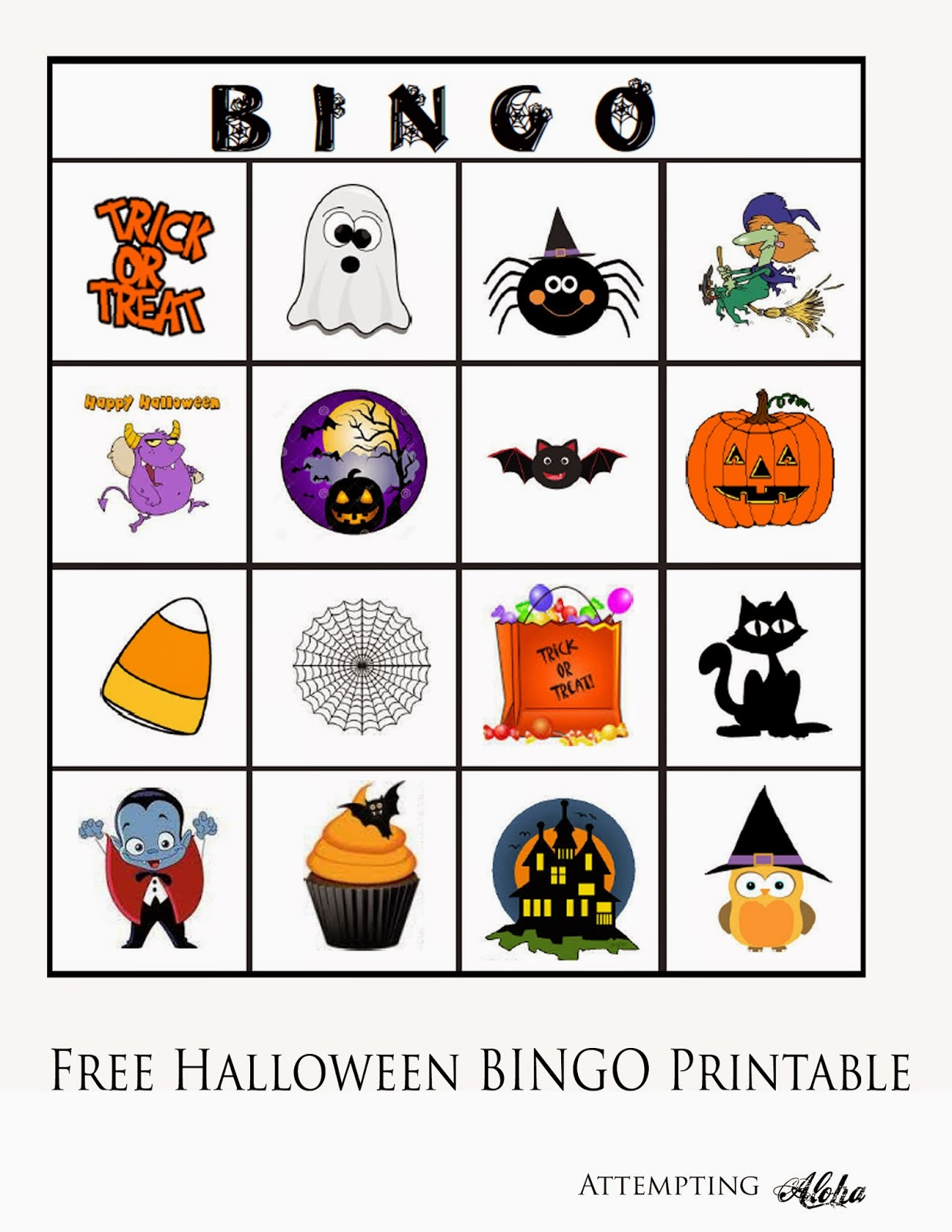 It's just a graphic of Impeccable Free Printable Halloween Bingo