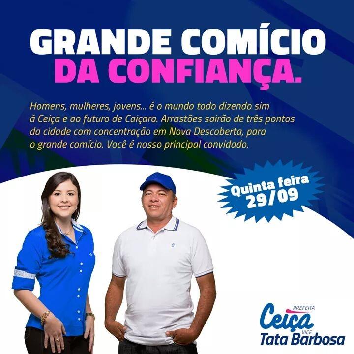 CONVITE PASSEATA E COMÍCIO DA CONFIANÇA