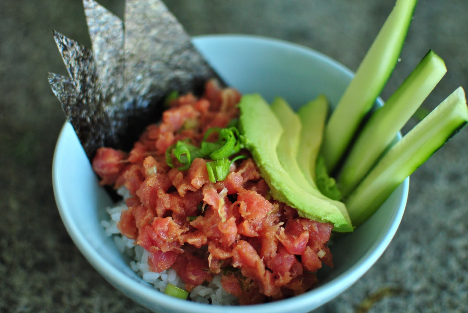 quiet like horses spicy tuna rice bowls