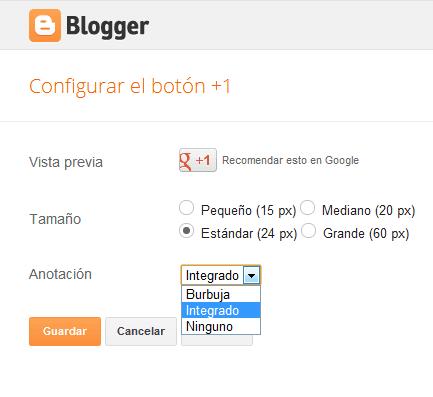 nuevo gadget de blogger