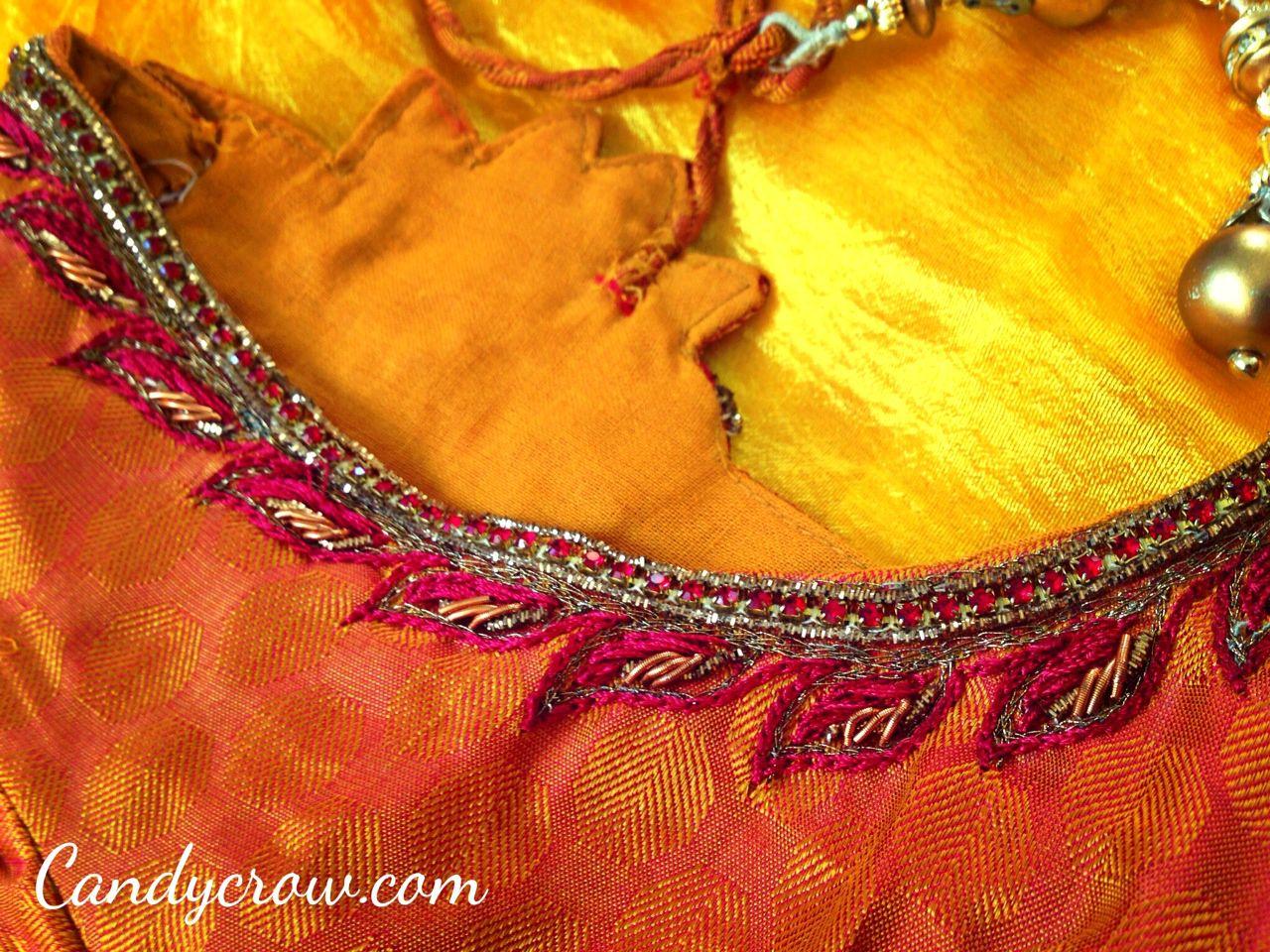 Blouse Design For Kanchipuram Silk Saree Candy Crow Top Indian