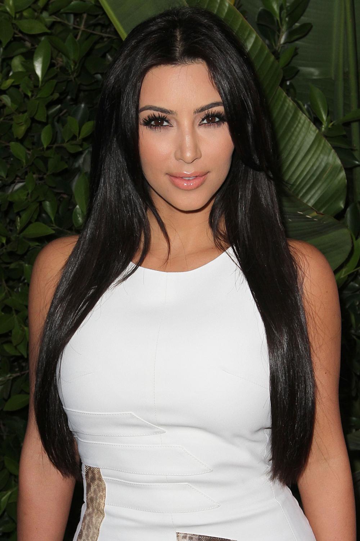 Kim Kardashian Straight Hair Fresh Look Celebrity Hairstyles