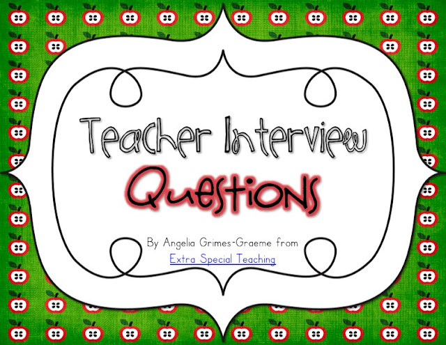 interview questions for special education teachers