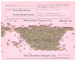 Mini Plastic Golden Beads Button Supplier - Hong Kong Li Seng Co Ltd