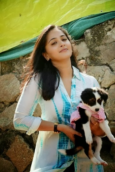Anushka With Dog