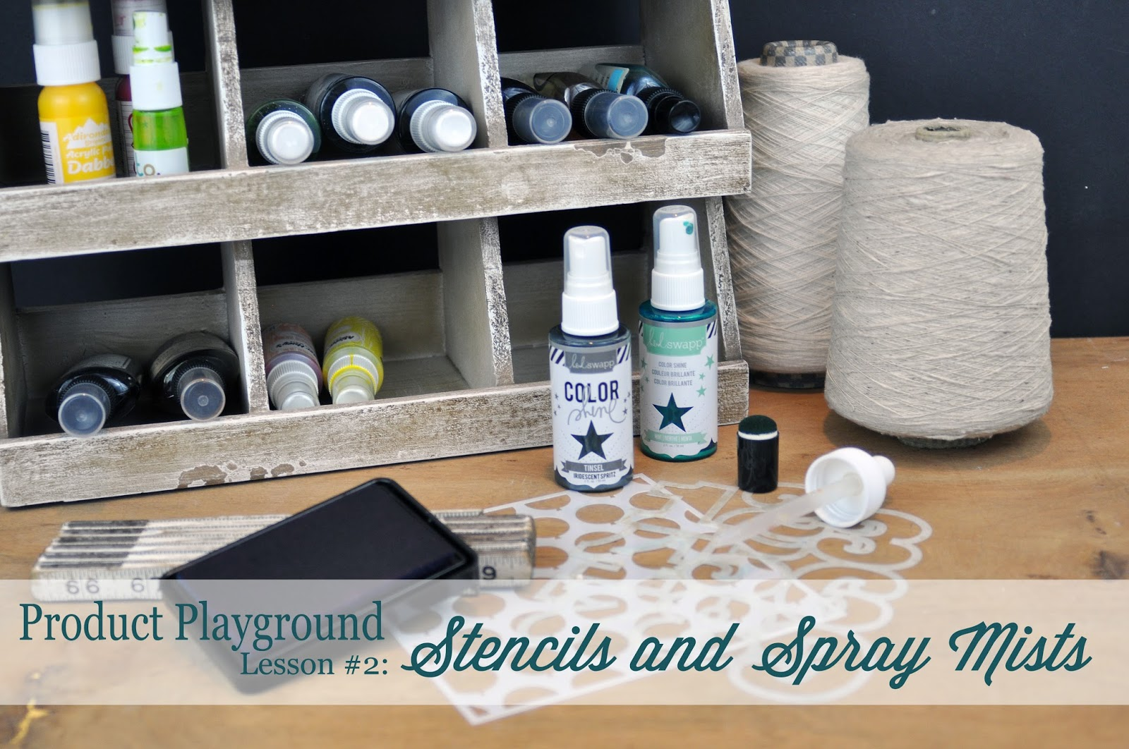 Stencils and Spray Mists Scrapbooking Process Video and Class through Big Picture Classes by Jen Gallacher http://www.bigpictureclasses.com/classes/product-playground-02