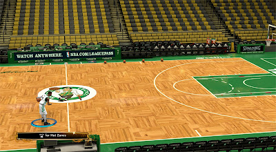 NBA 2K13 Boston Celtics Court Floor Patch