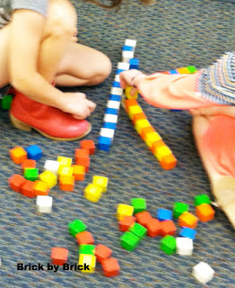 Building Letters with Tape and Blocks (Brick by Brick)